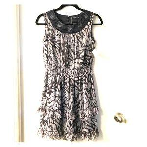 NWT Animal Print Ruffle Dress